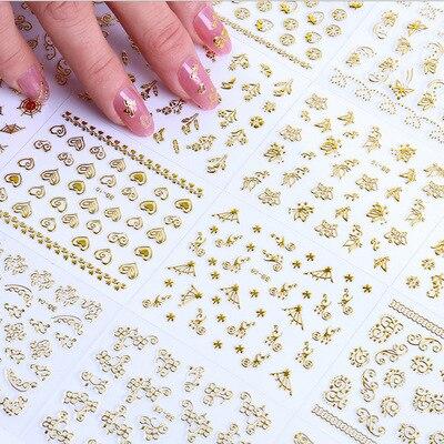 30 hojas florales arte de uñas pegatina etiqueta rosa patrón de acuarela Nailart decoraciones encantos 3d primavera Bloom Nailart diseño