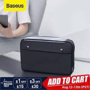 Baseus портативная цифровая сумка для хранения USB гаджеты Кабельный органайзер сумка провода зарядное устройство чехол для наушников Аксессу...