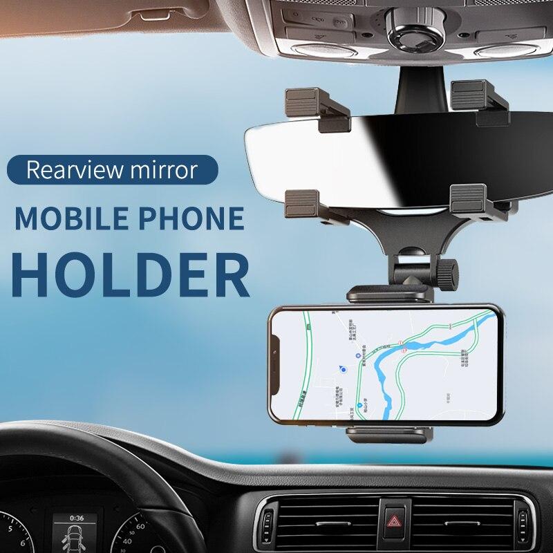Coche soportes de DVR 2 Generación Universal ajustable de montura de espejo retrovisor titular-teléfono celular de soporte de cámara de salpicadero de fijación es