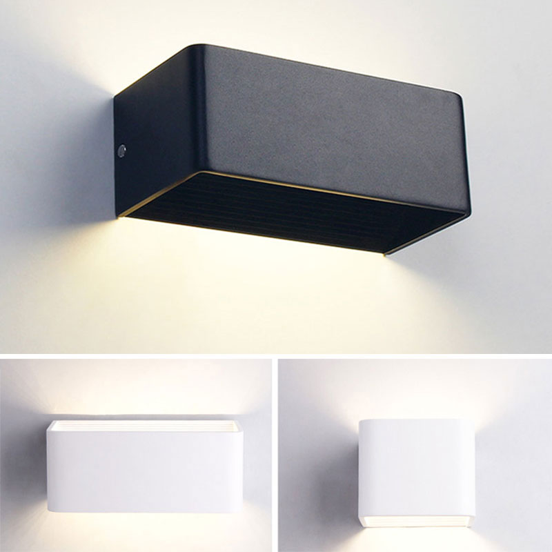 white black nordic aluminum painted metal wall lamp modern led bathroom light mirror room contemporary design kitchen stair Led indoor wall lamp LED aluminum lamp bedside lamp wall light room bathroom mirror light direct creative aisle
