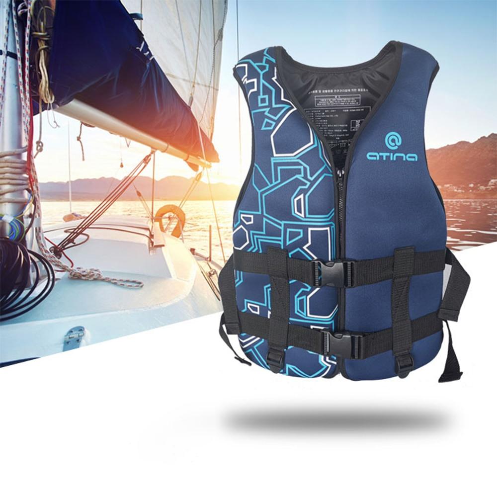 Chalecos salvavidas para deportes acuáticos para adultos, esquí, Wakeboard, natación, barcos de rescate, Drifting Life Jacket, traje profesional de nivel de deriva