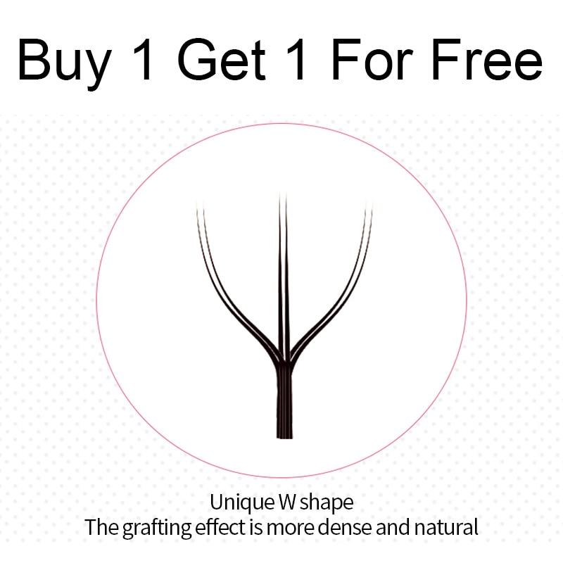 اشتر 1 Get 1 for free B 10 مللي متر 12 خطوط النساء جميلة الرموش الصناعية ث شكل فو Cils اليدوية رمش تمديد