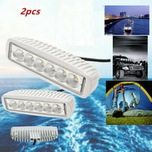 2Pcs  12V  White LED Boat Light Deck Courtesy Bow Trailer Pontoon Waterproof Spot