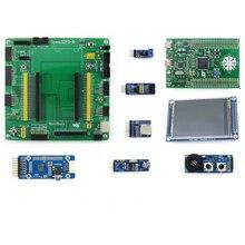Waveshare Open32F3-D חבילה STM32F3DISCOVERY STM32 STM32F303VCT6 זרוע Cortex-M4 פיתוח לוח עם 8pcs שונה מודולים
