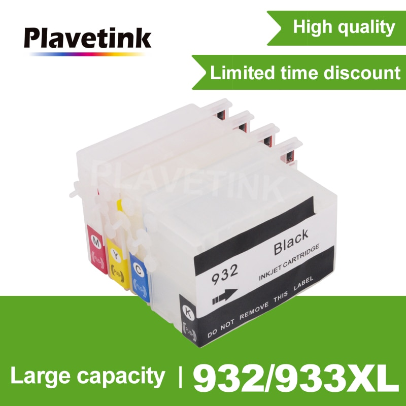 Cartucho de Tinta Para HP932 Plavetink HP933 XL Cartuchos de Recarga Para HP 932 Officejet 933 6100 6600 6700 7110 7610 7612 impressora