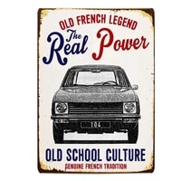 classic french car peugeot 104 tin sign retro metal sign metal poster metal decor wall sign wall poster wall decor home