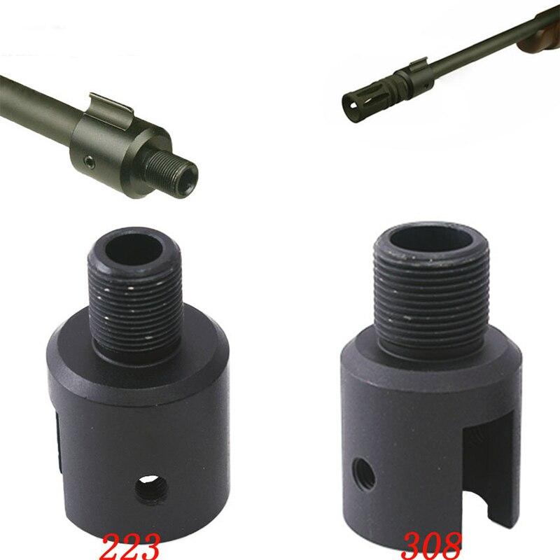 Adaptador táctico. 223 .308 de aluminio Ruger 1022 10/22, freno de Boca 1/2x28 5/8-24, adaptador de freno de boca de barril