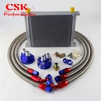 30 row an10 universal engine transmission oil cooler british type filter adapter kit silverblue