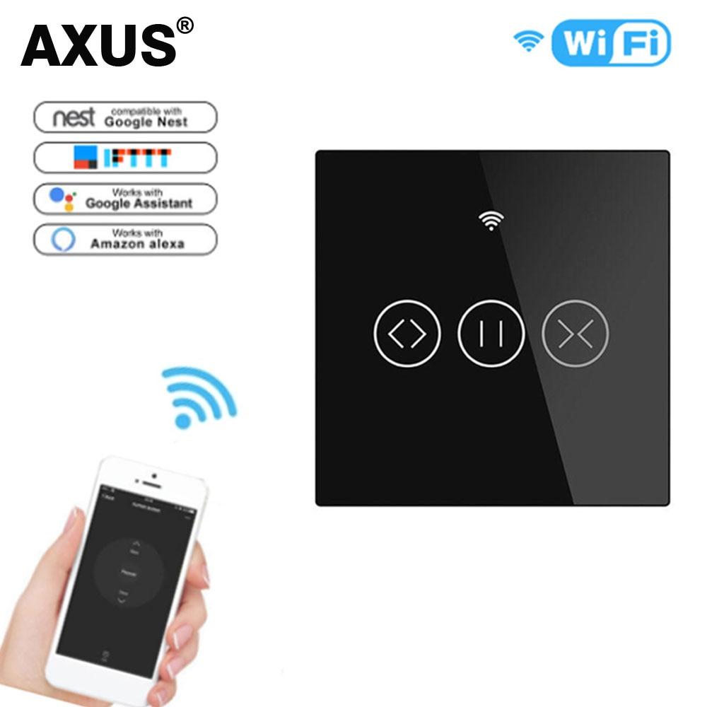 أكسوس-مفتاح محرك للستائر الدوارة ، wi-fi ، EU ، جهاز تحكم عن بعد ، تطبيق Tuya Smart Life ، يعمل مع Alexa و Google Home ، 220 فولت