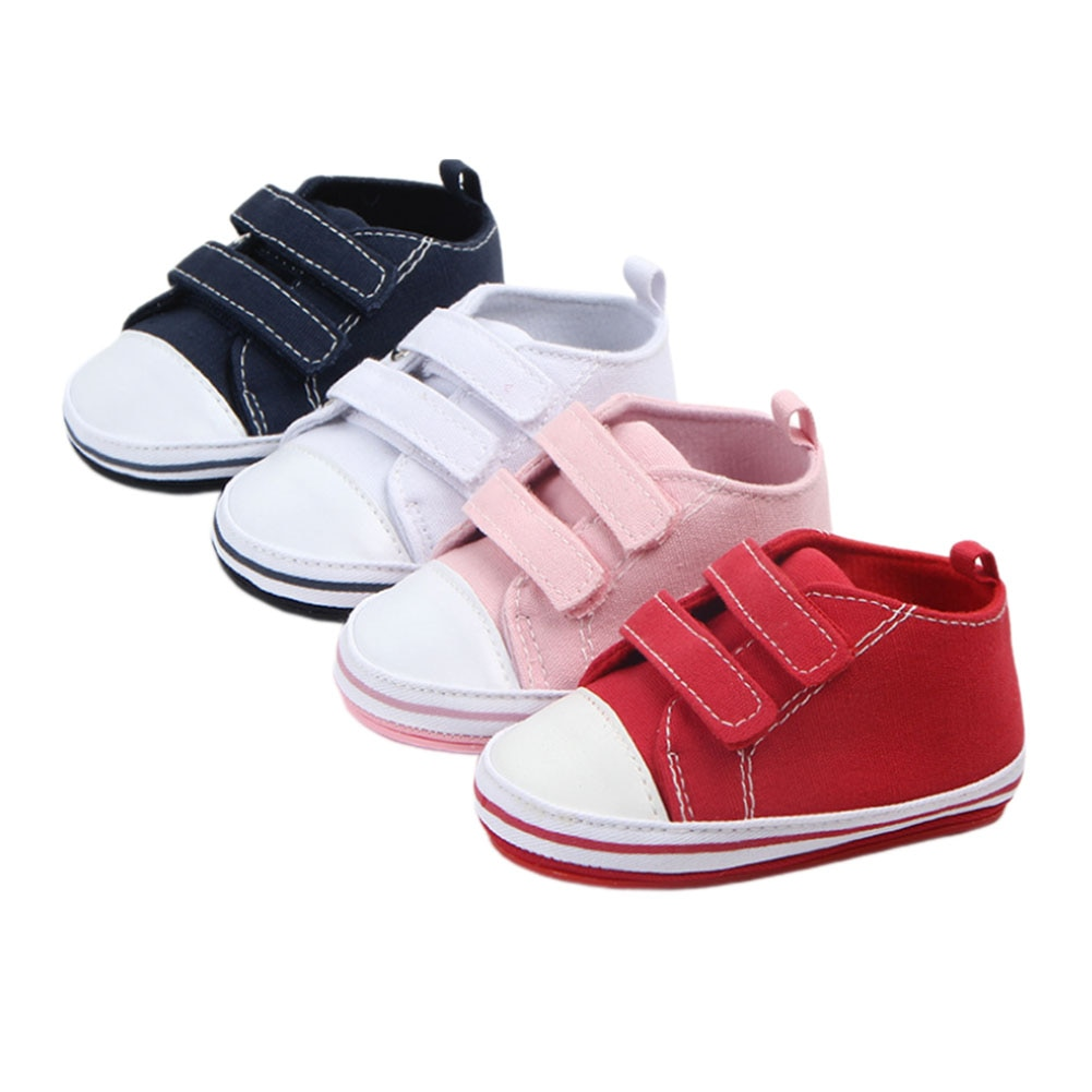 Baby Boys Girls Canvas Shoes Infant Newborn First Walkers Casual Anti-Slip Sole Crib Casual Toddler
