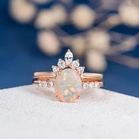 2021 new hot sale closed couple ring ladies ring inlaid horse eye zircon opal ring