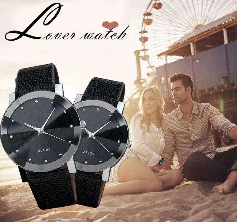 Men's Simple Watches Leather Band Fashion Casual Rhinestone Couple's Watches Men's Clock Sport relogio masculino reloj hombre