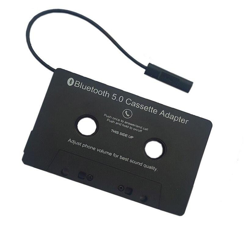 Auto Band Audio Kassette Aux Adapter Smartphone Kassette Adapter Bluetooth 5,0 Konverter Mit LED-Taste Steuerung