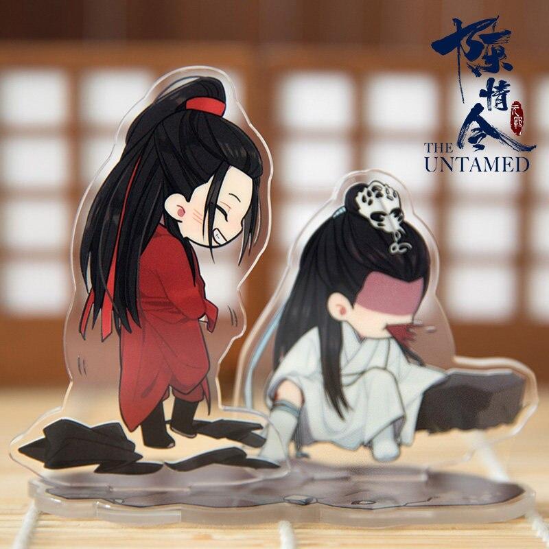 Grand maître de la culture démoniaque MDZS le Wuxian indompté Wangji Cosplay BL acrylique dessin animé Figure support modèle plaque cadeaux de noël