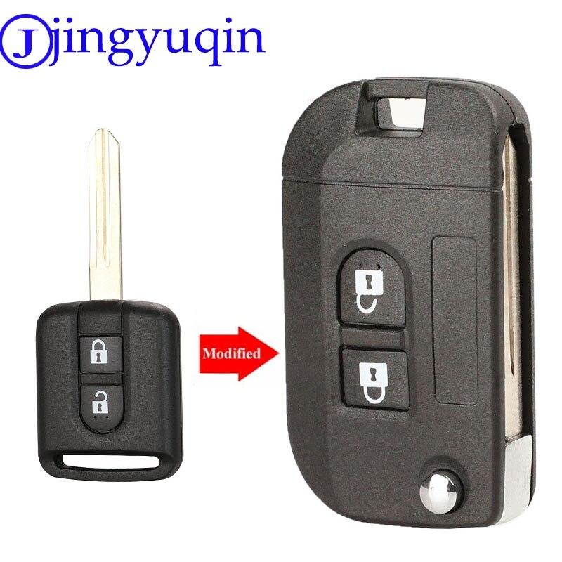 Jingyuqin 2B Folding Remote-Car Key Shell Fall Fob Abdeckung Für Nissan Qashqai primera Micra Navara Almera