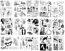 14x18cm Heißer verkauf Transparent Klar Silikon Stempel für DIY scrapbooking/foto album Dekorative klare stempel A0127