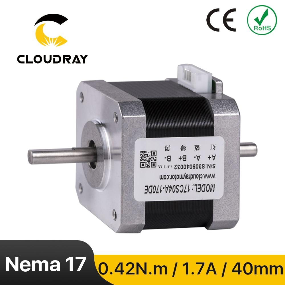 Cloudray نيما 17 السائر 40 مللي متر 42Ncm 1.7A مزدوجة رمح 2 المرحلة السائر المحركات ل CNC 3D طابعة النقش طحن ماشين