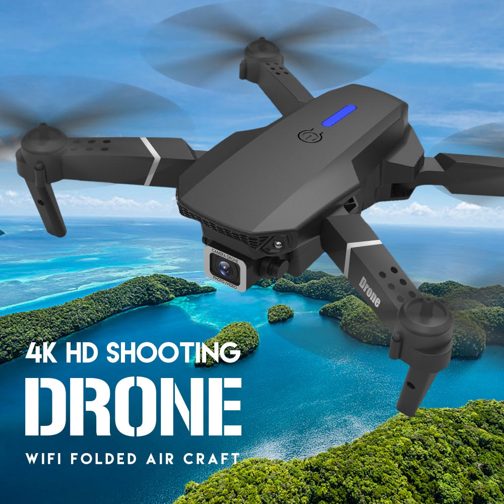 LSRC 2021 New Quadcopter Drones E525 HD 4K 1080P Camera and WiFi FPV HeightKeeping RC Foldable Quadcopter Drone Toy Gift