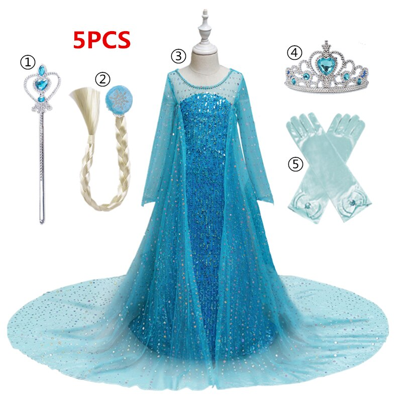 Dress for Girls Kids Christmas Dress Halloween Cosplay Costume Children Birthday Party Clothing Girls Princess Costume customized costume rapunzel tangled mother gothel dress costume cosplay adult woman s medieval dress party cosplay cotume