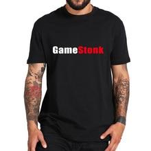 Gamestonk T Shirt Letter Printed Tshirt 100% Cotton Comfortable Soft High Quality Cloth Premium Cami