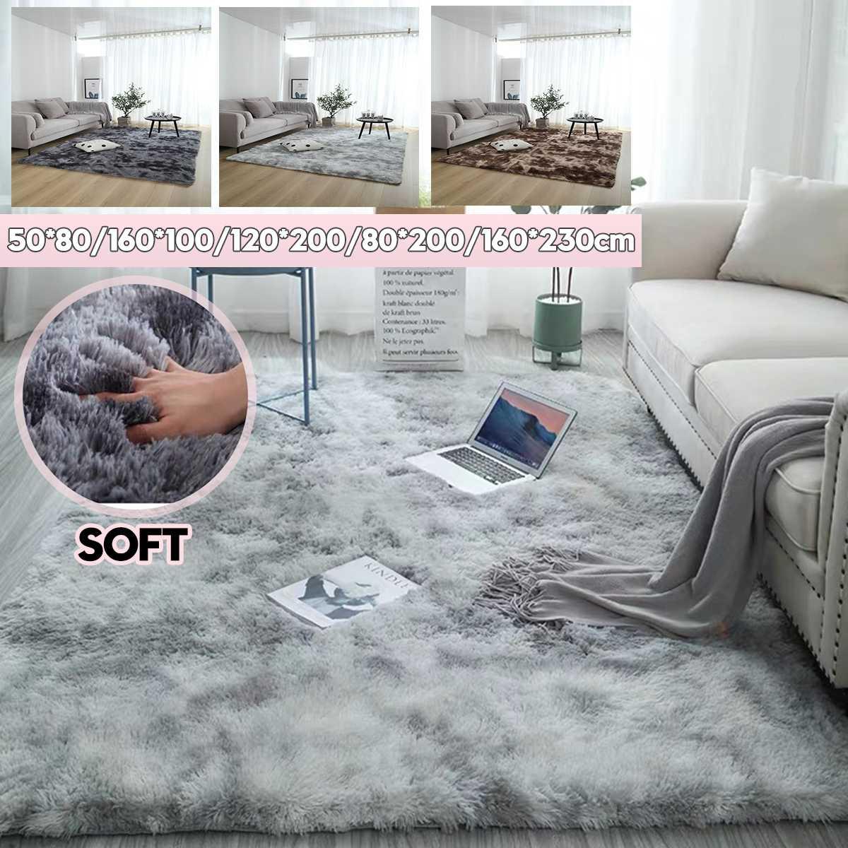 160 см x 230 см Противоскользящий коврик для гостиной и спальни, ультрамягкий плюшевый прямоугольный ковер, современный коврик для украшения д...