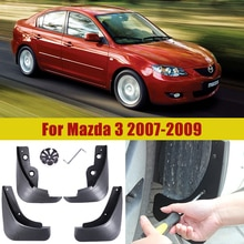 Voiture Garde-Boue Accessoires pour Mazda 3 BK 2004 2005 2006 2007 2008 2009 Berline tricorps Garde-Boue Garde-Boue Rabat Éclaboussures Bavettes Garde-Boue