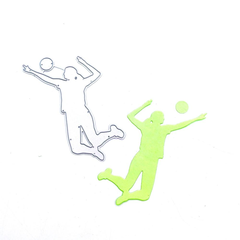 Металлические штампы Julyarts для игры в волейбол, высечка для рукоделия, изготовление открыток для «сделай сам», скрапбукинг, фотоальбом, деко...