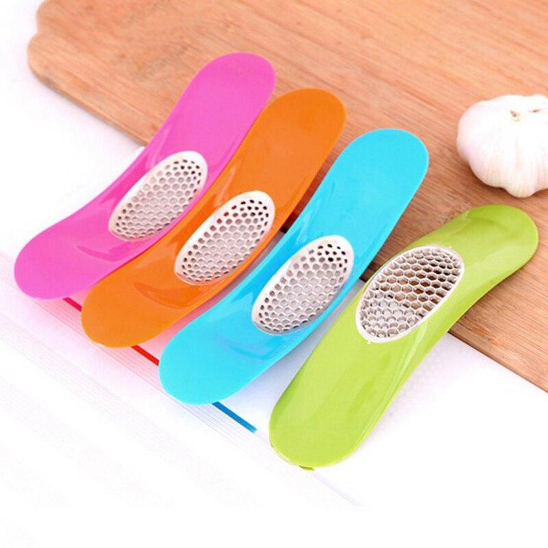 Herramienta de accesorios de cocina de Color caramelo pesado prensa de ajo