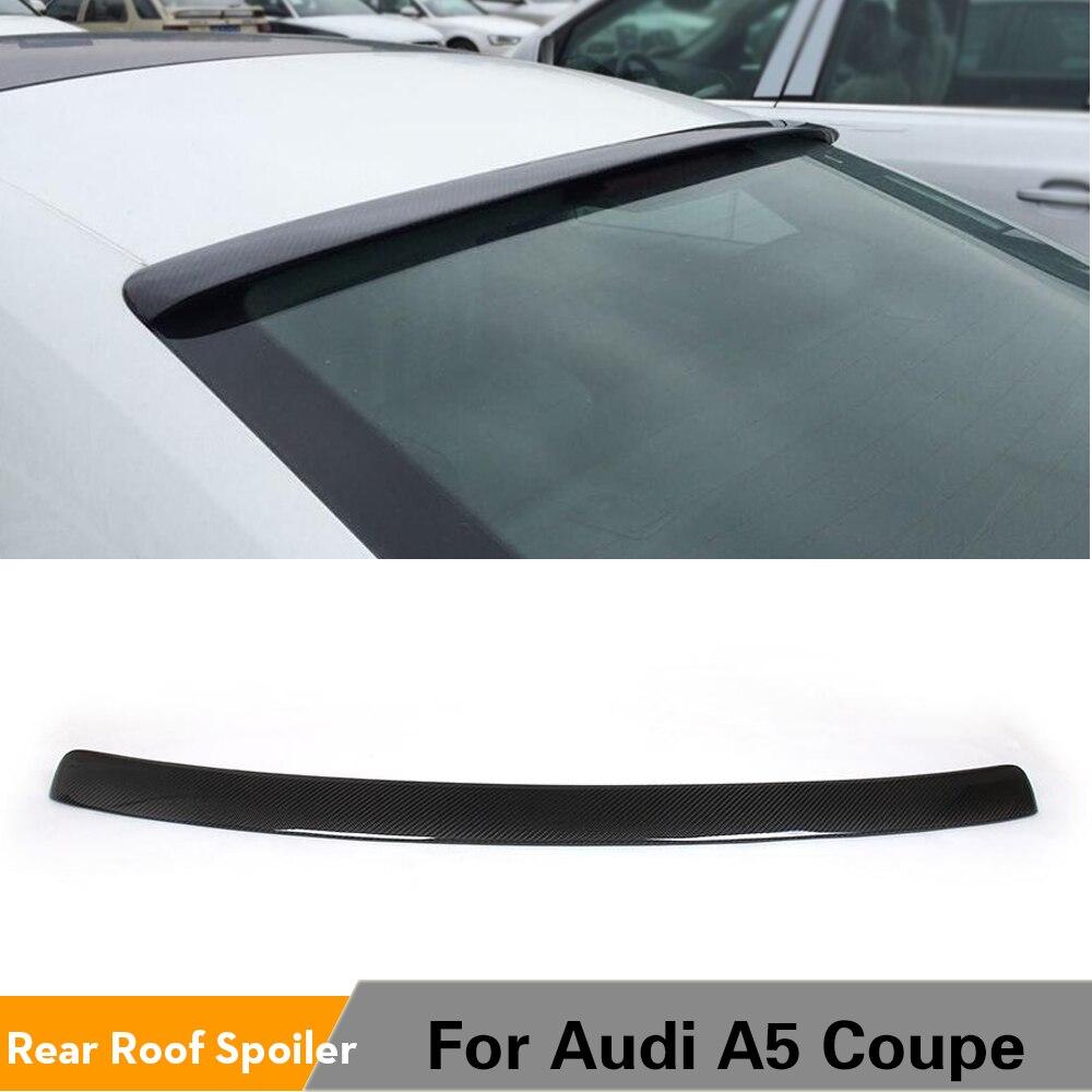 De fibra de carbono techo trasero ventana Spoiler ala para Audi A5 Coupe 2 Non-S5 no Sline 2008 - 2015 alerón trasero para maletero Spoiler