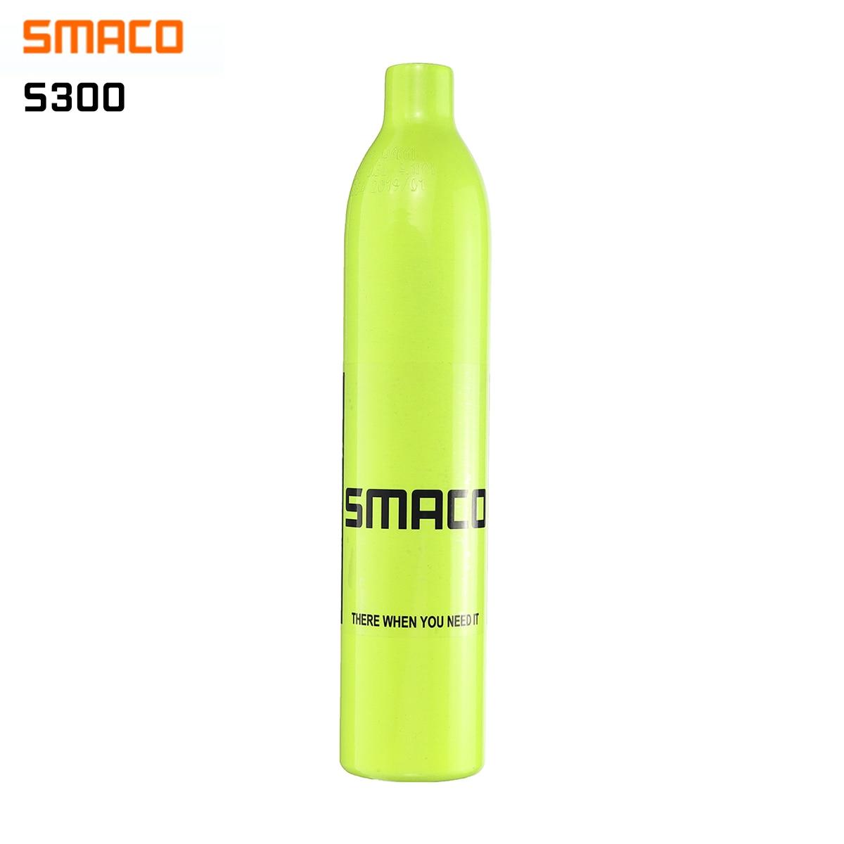 Smaco s300 0.5l equipamento de mergulho mini cilindro de mergulho tanques de ar do cilindro oxigênio sem cabeça