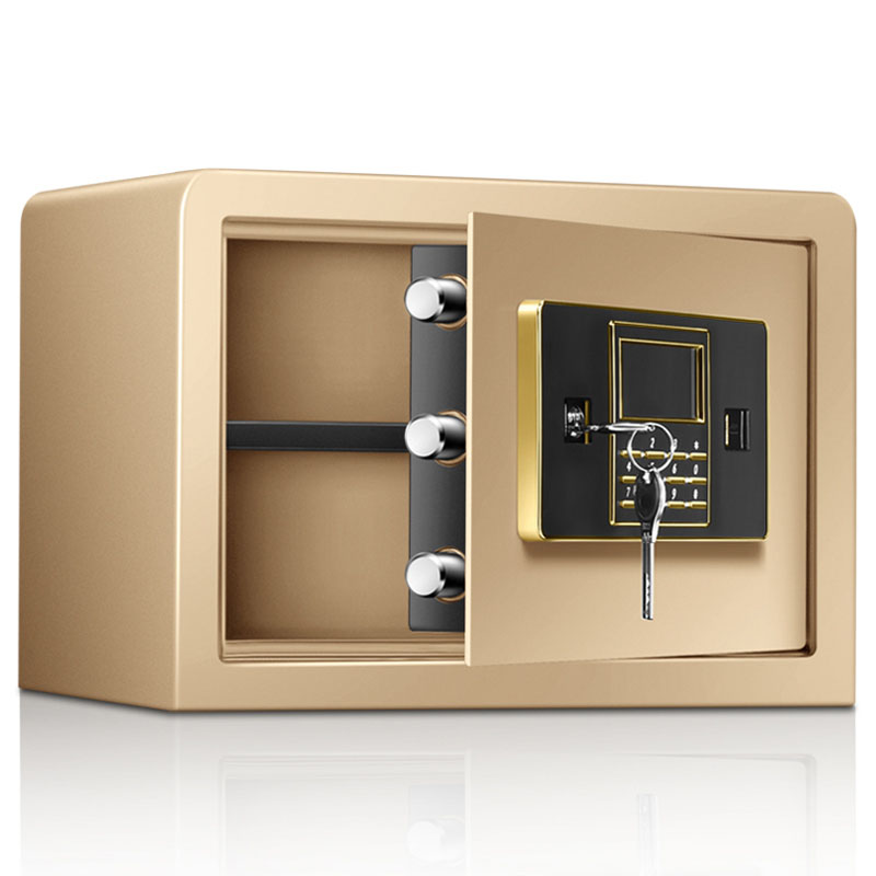 safe Password Safe Household Small Mini Safe High-Quality Steel Plate Electronic Password Safe 25cm With Alarm System