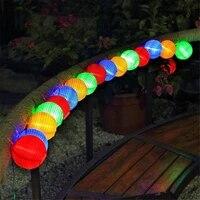 solar 203050 leds lantern ball string lights waterproof outdoor solar decorative string lights for patio garden wedding party