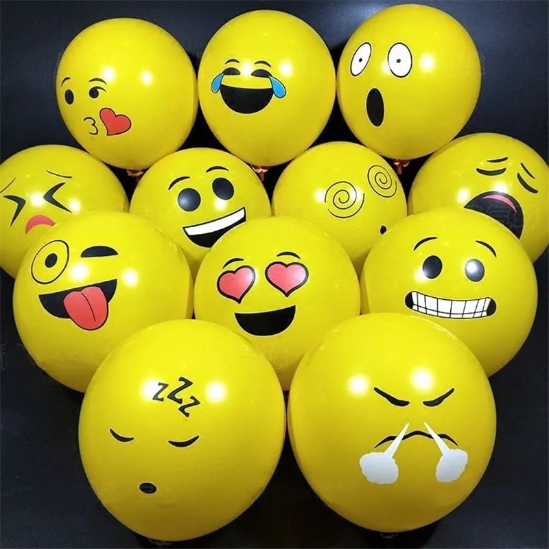 10 30pcs/Lot 2.8g 12inch Funny Smile Face Yellow Latex Balloons Birthday Party Decor Inflatable Balloon Baby Shower Globos