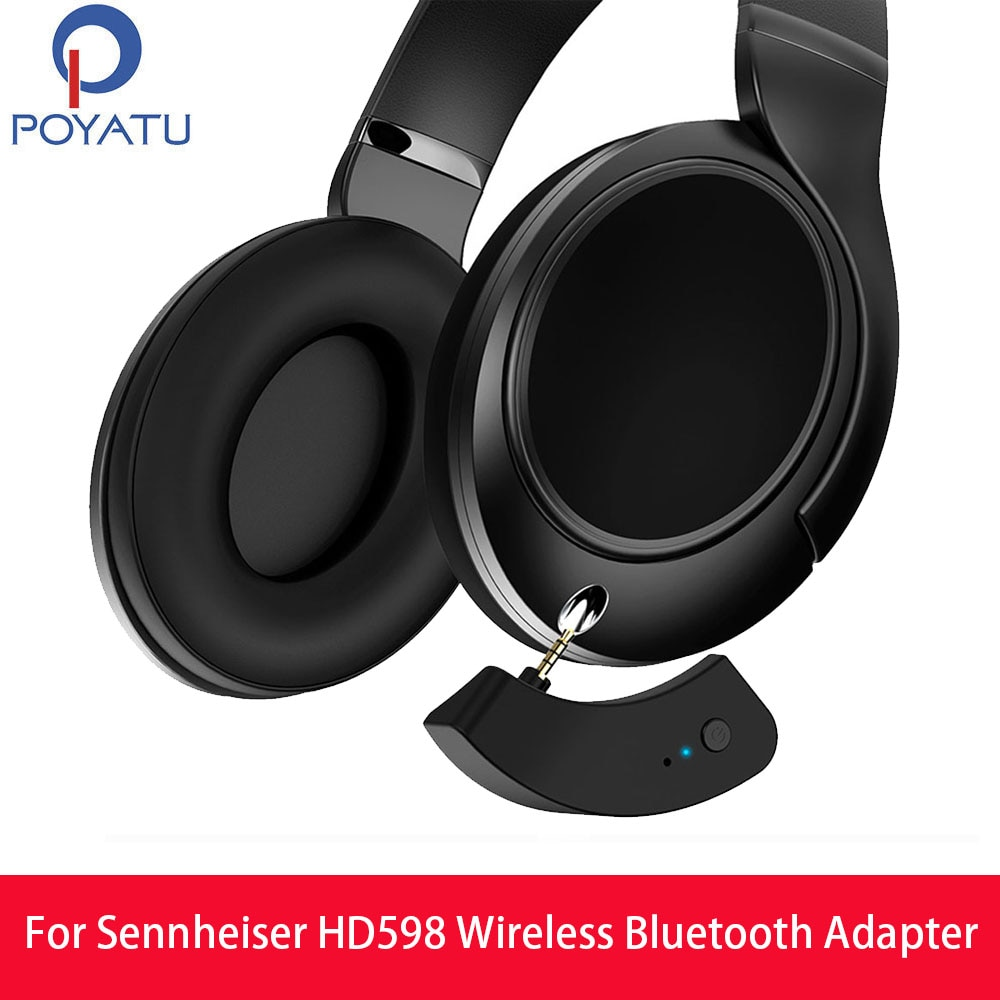 Adaptador Bluetooth POYATU aptX HD599 para Sennheiser HD599 HD579 HD569 adaptador inalámbrico receptor Cable Bluetooth