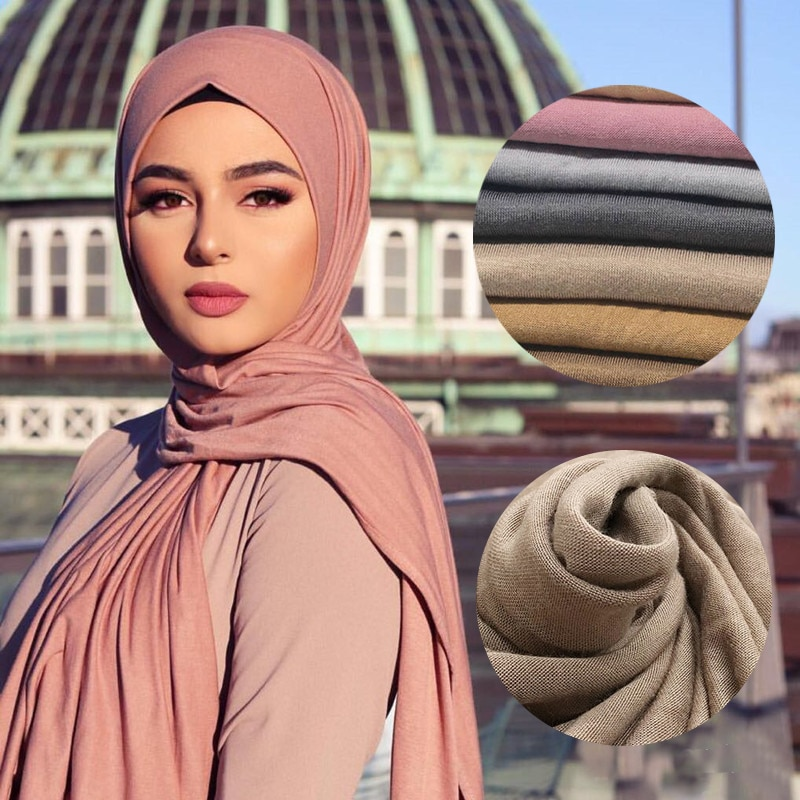 Multicolor Soft Cotton Muslim Headscarf Instant Jersey Hijab Full Cover Cap Wrap Scarf Islamic Shawls Women Turban Head Scarves 2020 new muslim women stretch rippled jersey scarf hijab islamic soild cotton headscarf arab wrap head scarves hijab femme