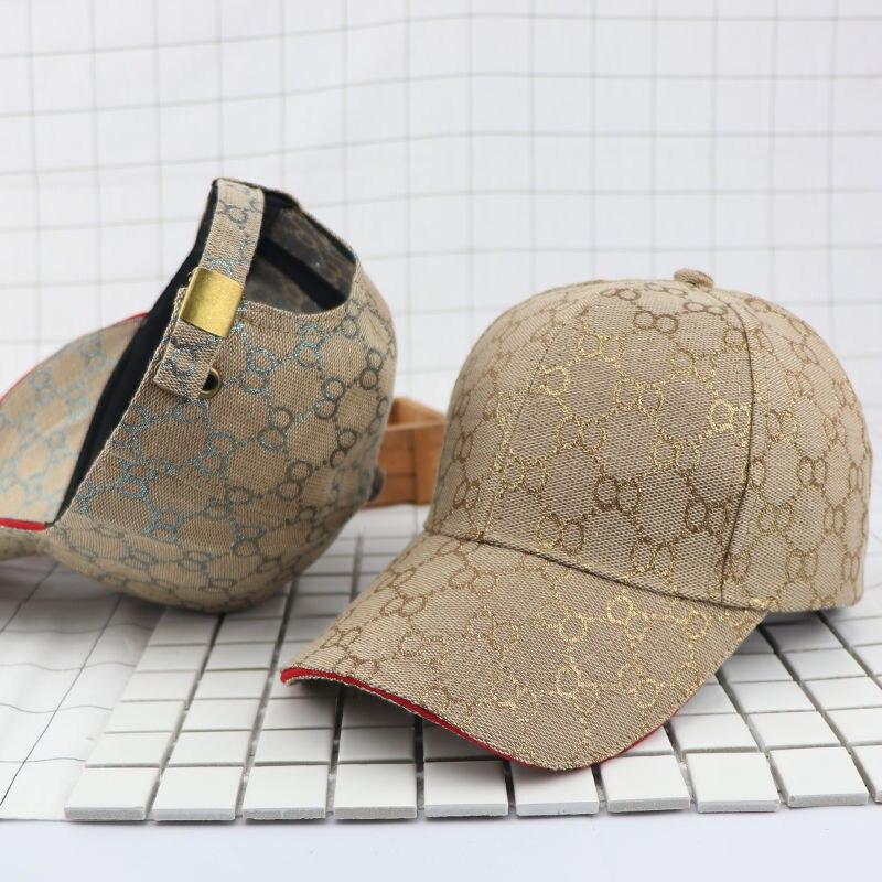 Модная трендовая универсальная мужская шляпа от солнца Женская кепка Золотая бейсболка в стиле хип-хоп Мужская Снэпбэк Кепка Регулируемая ...