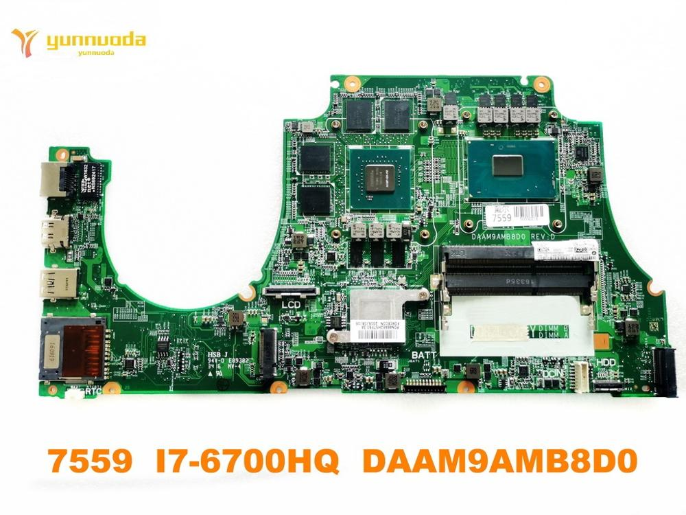 الأصلي لديل 7559 اللوحة المحمول 7559 I7-6700HQ DAAM9AMB8D0 اختبار جيد شحن مجاني