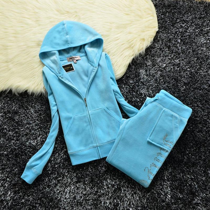 Velvet Zipper Sweatshirt And Pants Fat Sister Sportswear 2021 Women's Brand Spring/Fall Fabric Tracksuits Velour Suit Hoodies