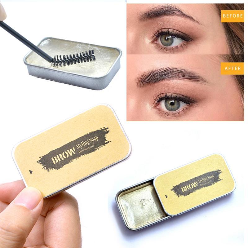 Nuevo 3D cejas pluma maquillaje Gel jabón cejas Kit ceja de larga duración ajuste Gel impermeable tinte de cejas cosmético en crema TSLM1