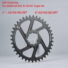 Mtb bicicleta roda dentada estreito largo anel de corrente 32 t 34 t 36 t 38 t para sram gxp x01 x9 xo x01 gx eagle nx cárter 11s 12s