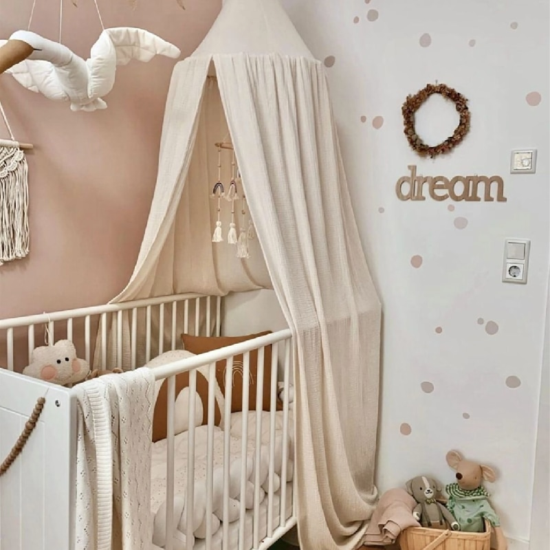 Baby Mosquito Net for Crib Bed Canopy Kids Cotton Hanging Dome Curtain Baby Mosquito Net Play Tent Children Room Decoration