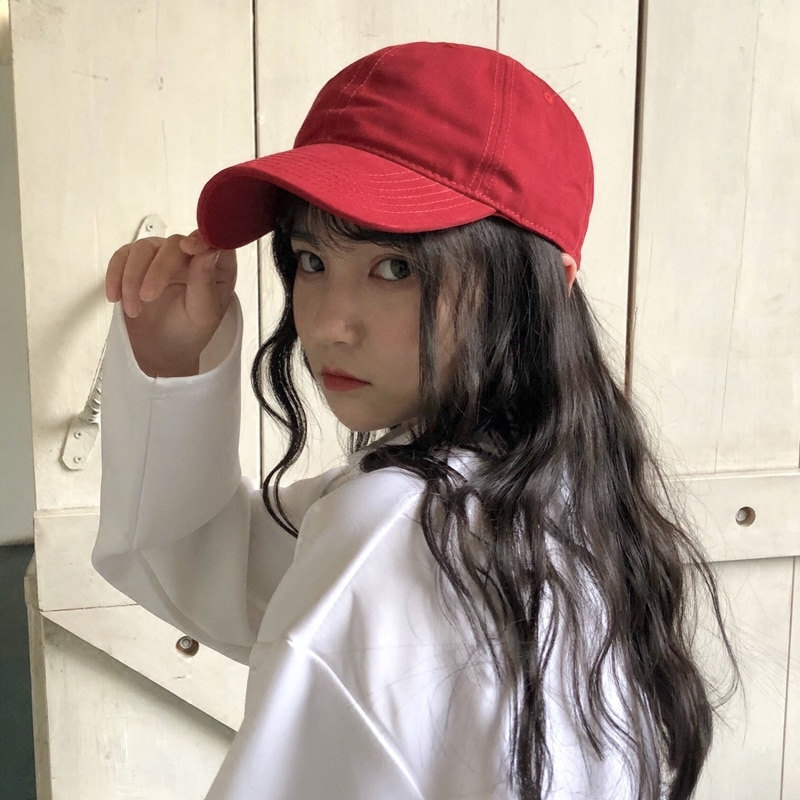 Female Summer Peaked Cap Korean Solid Color Hong Kong Style Casual All-Match Student Street Sun Hat