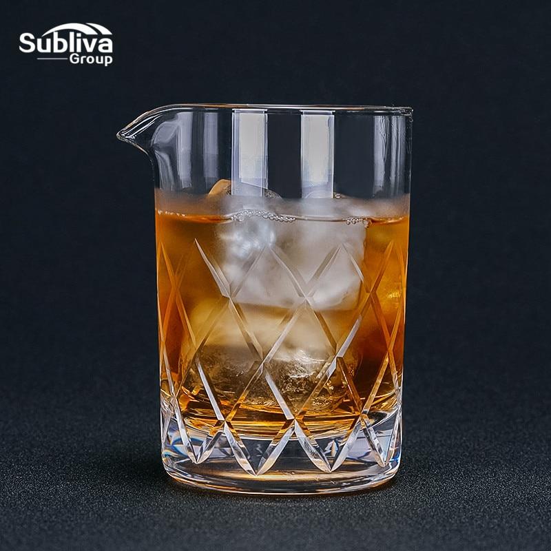 Vaso Mezclador de cristal de 650ml para cóctel camarero, vaso de cristal para whisky, Vaso Mezclador de diamantes, vaso para martini, bar, cerveza