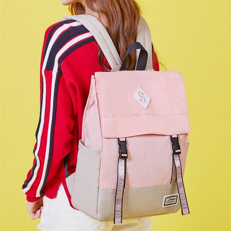 Женский рюкзак для ноутбука для колледжа, школьный рюкзак для девочек, Холщовый Школьный рюкзак, модная женская сумка для книг