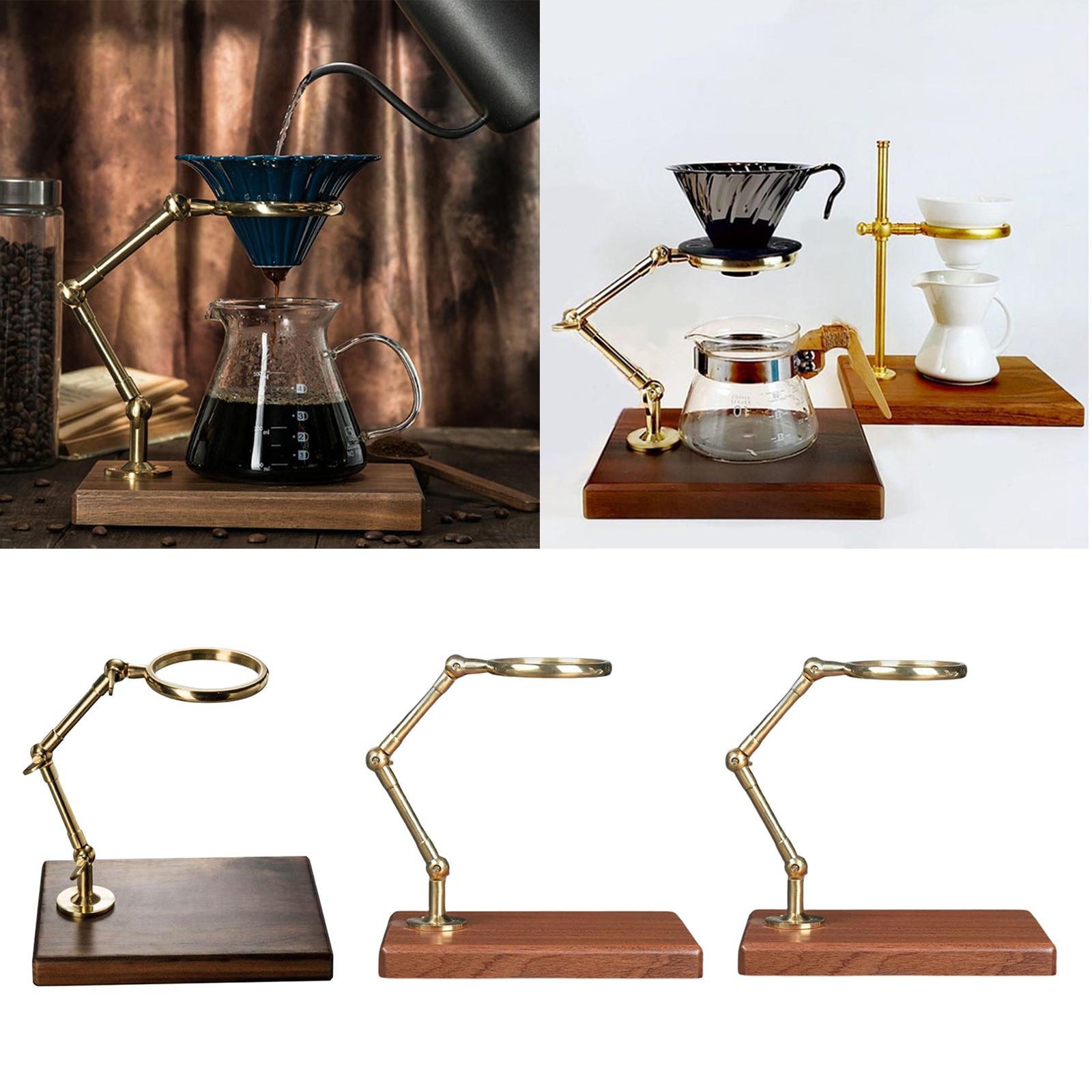 فلتر القهوة تختمر صب أكثر من محطة القهوة المنقط حامل اليد فلتر القهوة حامل قاعدة خشبية للمطبخ بار