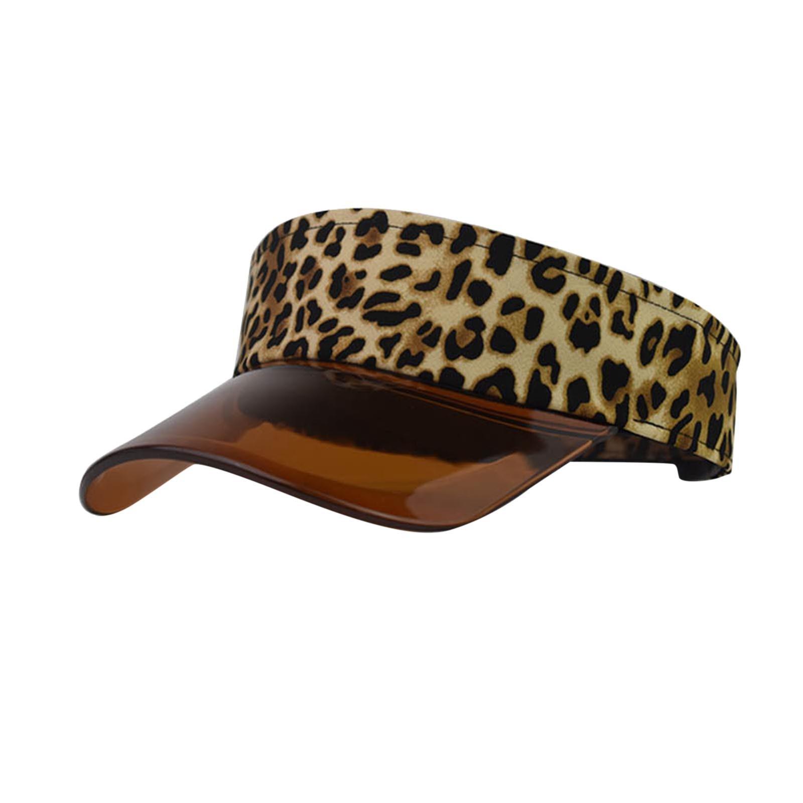 Sombreros militares de moda Para Mujer, sombrero de sol con estampado de leopardo, protección Uv, visera superior, gorra de béisbol, Gorras de baile sexys Para Mujer