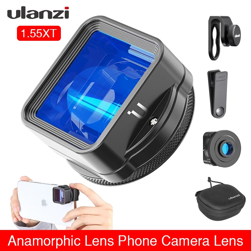 Review Ulanzi 1.55XT Anamorphic Lens for iPhone 12 11 Pro Max X 1.55X Wide Screen Video Widescreen Slr Movie Videomaker Filmmaker Lens