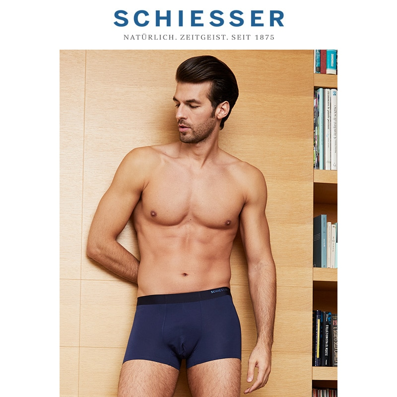 SCHIESSER Mixed color 3 pieces Men's orchid modal breathable seamless boxer underwear E5/18119T