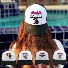 Friday Night Funkin Baseball Cap Spooky Month Skid and Pump Trucker Hat Men and Women Summer Breatha