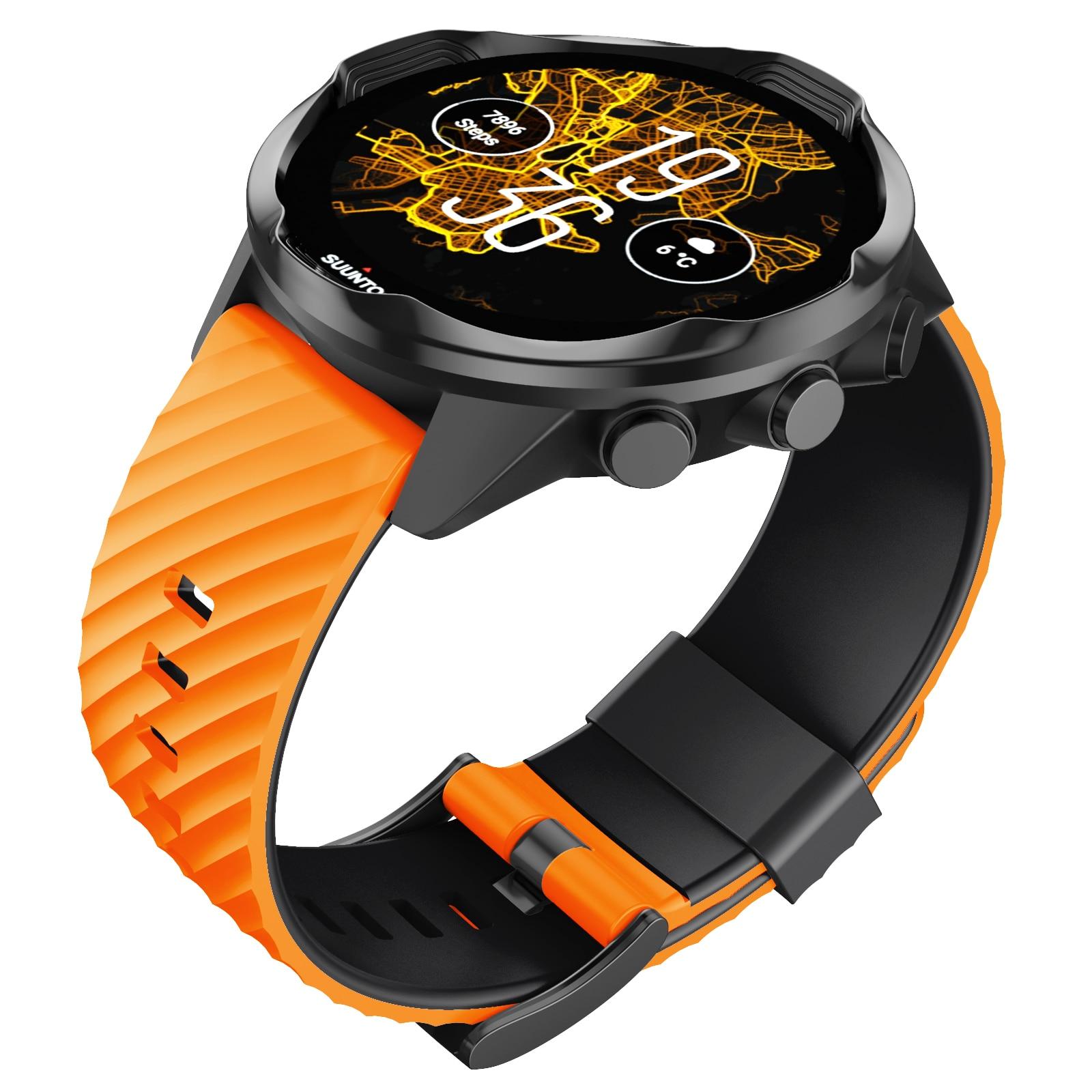 ANBEST For Suunto 7/Suunto 9 Replacement Wristband Soft Silicone Sports Watch Strap Suunto 9 Baro/9 Spartan/9 GPS Watch Band